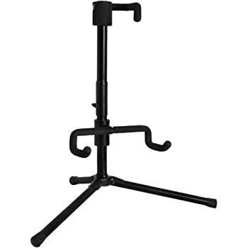 Amazon Com Fender Deluxe Hanging Guitar Stand Black Red