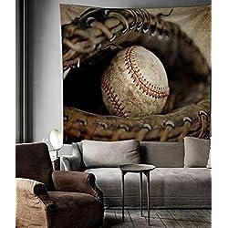 "Baseball Sports Tapestry Wall Hangings Dorm Decorations,80""W x 60""L"