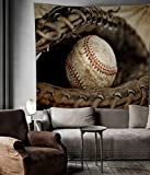 Baseball Sports Tapestry Wall Hangings Dorm Decorations,80''W x 60''L