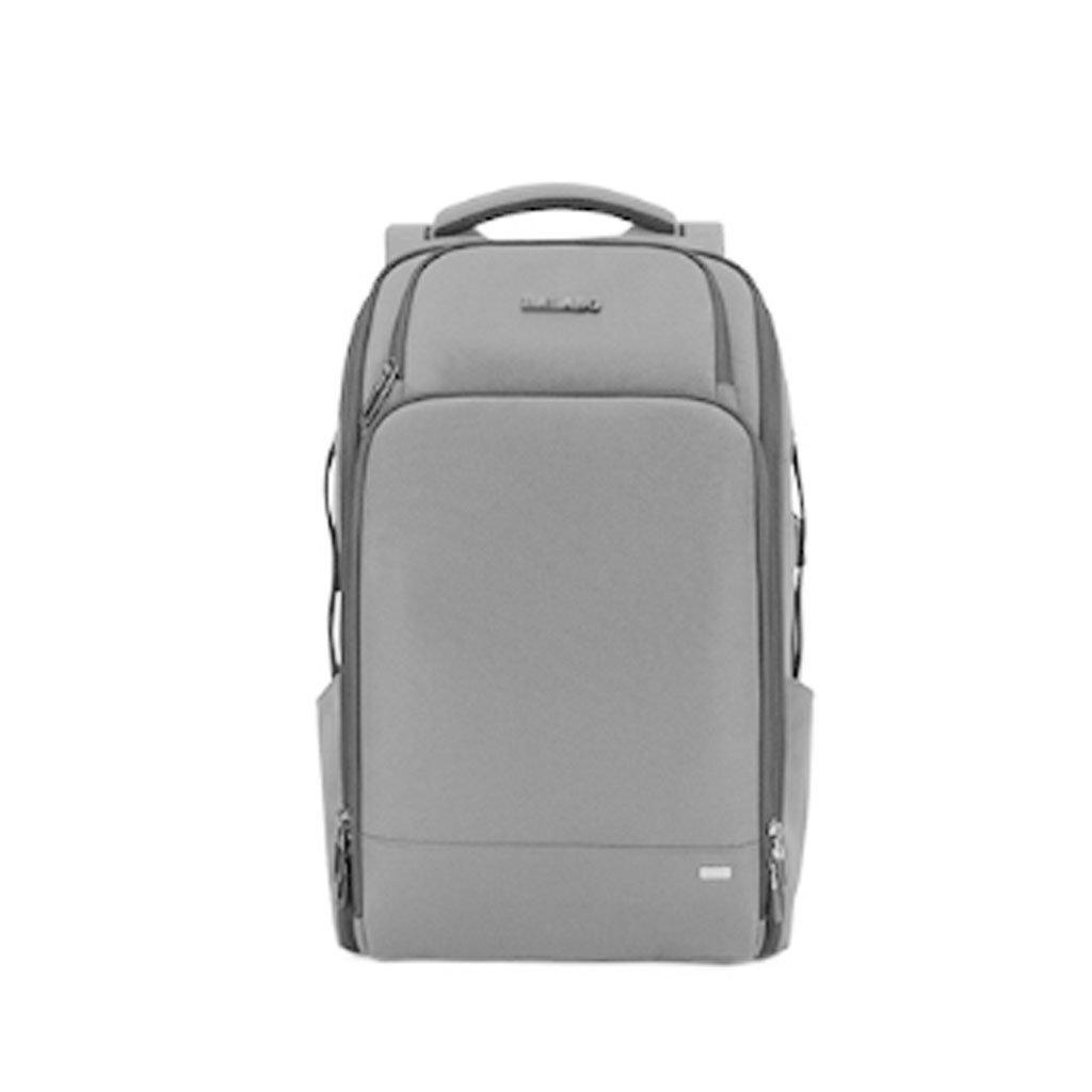 DS- スクールバッグ 新しい大容量旅行バックパックメンズビジネスコンピュータバッグ防水盗難防止旅行バックパック&& (色 : Gray)  Gray B07LBM7VBZ
