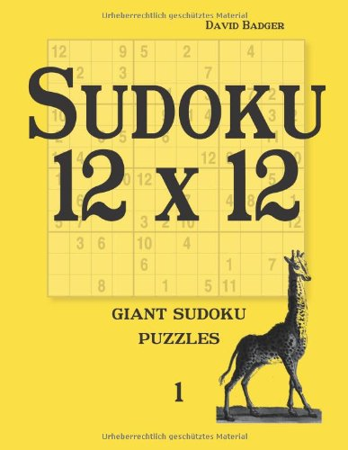 Download Sudoku 12 x 12: giant sudoku puzzles 1 pdf epub