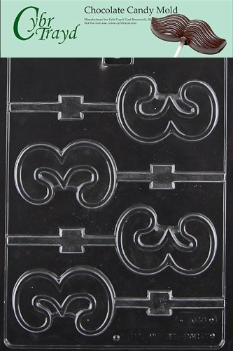 Cybrtrayd L048 No. 3 Lolly Chocolate Candy Mold with Exclusive Cybrtrayd Copyrighted Chocolate Molding Instructions