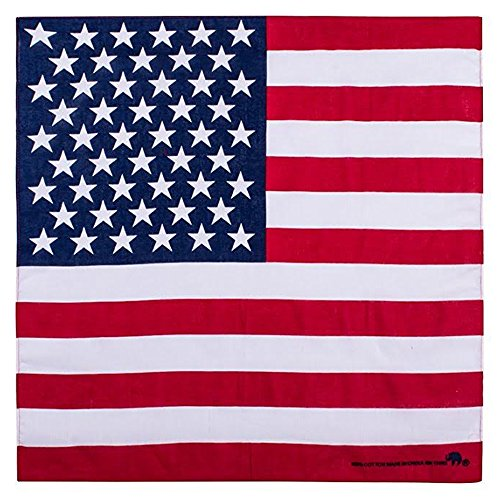 Elephant Brand Bandanas 100% cotton since 1898-12 Pack (American Flag)]()