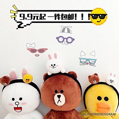 - Brown bear hair bands Korea rabbit animal doll Jenny doll can children holster Tousheng hairpin lovely hair band for women girl lady