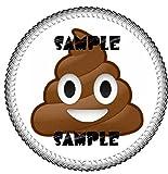 """Poop Emoji Edible 8"""" Round Cake Topper Frosting sheet"""