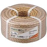 TRUSCO 麻ロープ 茶 6×30m 3つ打タイプ R630A