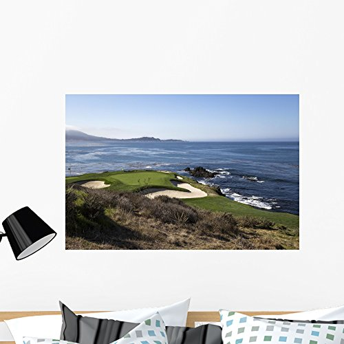(Wallmonkeys Pebble Beach Golf Course Wall Mural Peel and Stick Graphic (36 in W x 24 in H) WM366261 )