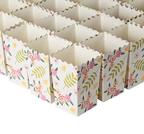 avor Boxes - Carnival Parties Mini Paper Popcorn Containers, Candy Popcorn Party Supplies for Movie Nights, Birthday, Bridal Shower, Floral Design - 3.3 x 5.5 x 3.3 Inches (Blue Panda)