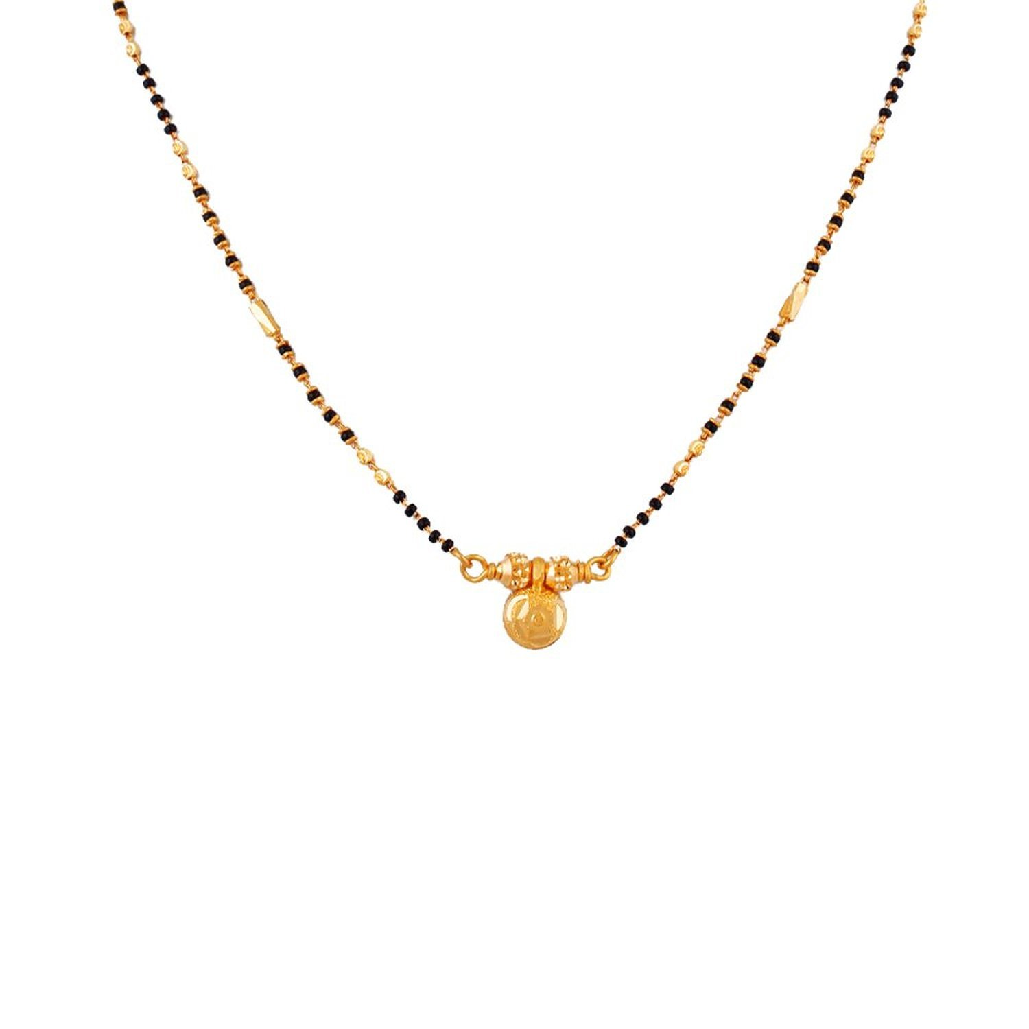 Whp Jewellers 22k Yellow Gold Mangalsutra Amazon In Jewellery