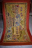 Vintage Tapestry Antique India Handmade Embroidered Patchwork Wall Hanging 11