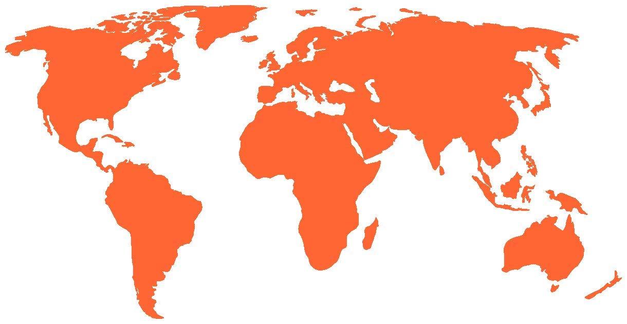 Adesivo a forma di mappa del mondo 070 nero 50 x 25cm