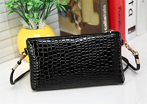Fashion Women Clearance a Small Tote Crocodile Shoulder ZOMUSA Handbag Black Pattern Purse Bag Ladies wRR1rEgq