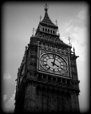 Big ben london england black and white print lnbw3905 8x10