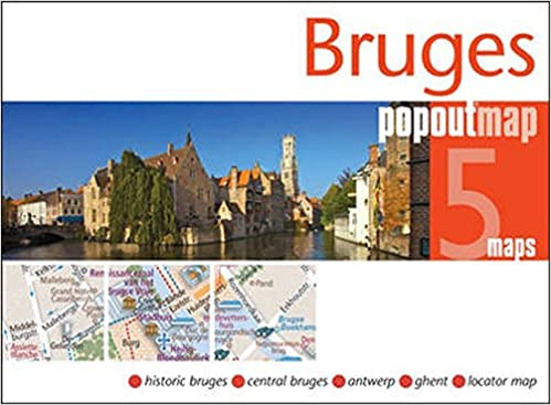 Bruges PopOut Map PopOut Maps PopOut Maps 0711600302035 Amazon