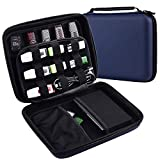 USB Flash Drive Case, Hard Drive Travel Storage Bag, EVA Waterproof Electronic Accessories Organizer Holder for Sandisk, WD and Any Flash Drive(Blue)