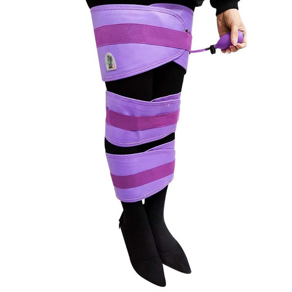 Leg Orthotics For O-legged X-legged Adult Children, Three-in-one, Airbag Compression (purple/blue) (Color : Purple)