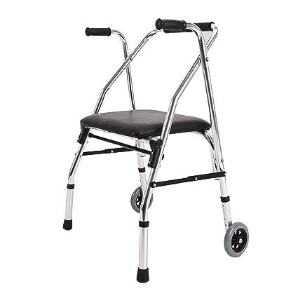 Andador plegable con asiento Andador Andador de 2 ruedas con ...