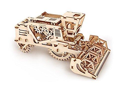 UGears Mechanical Models 3-D Wooden Puzzle - Mechanical Combine Harvester 3