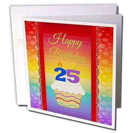 3dRose Cupcake con número velas, 25 años de edad cumpleaños ...