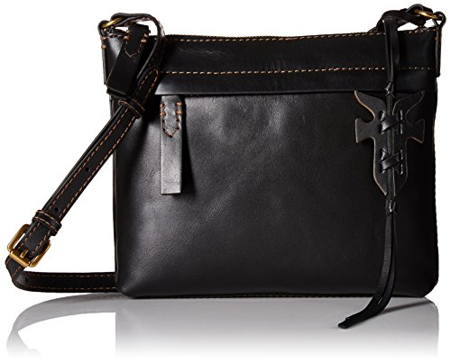FRYE Carson Zip Crossbody Oiled Veg, Black by FRYE