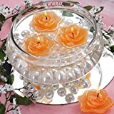 Efavormart Set of 20 Tango Unscented Floating Rose Candle for Wedding Party Birthday Centerpieces Home Decorations Supplies