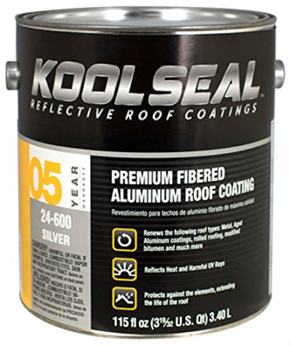 Kool Seal KS0024600-16 Premium Fibered Aliminum Roof Coatings, Silver ()