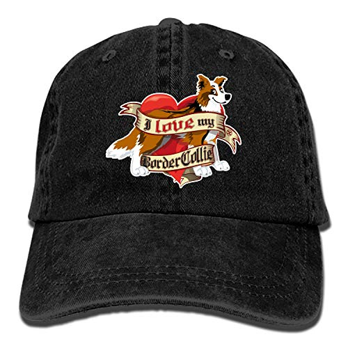 Camping Hair I Love My Border Collie Sabre Unisex Adult Adjustable Trucker Dad Hats
