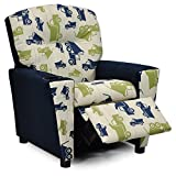 Kidz World Toy Truck Felix Kid's Recliner with Cup Holder, Navy Suede