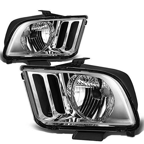DNA Motoring Chrome clear HL-OH-FM05-CH-CL1 Headlight Assembly (Driver & Passenger Side) ()