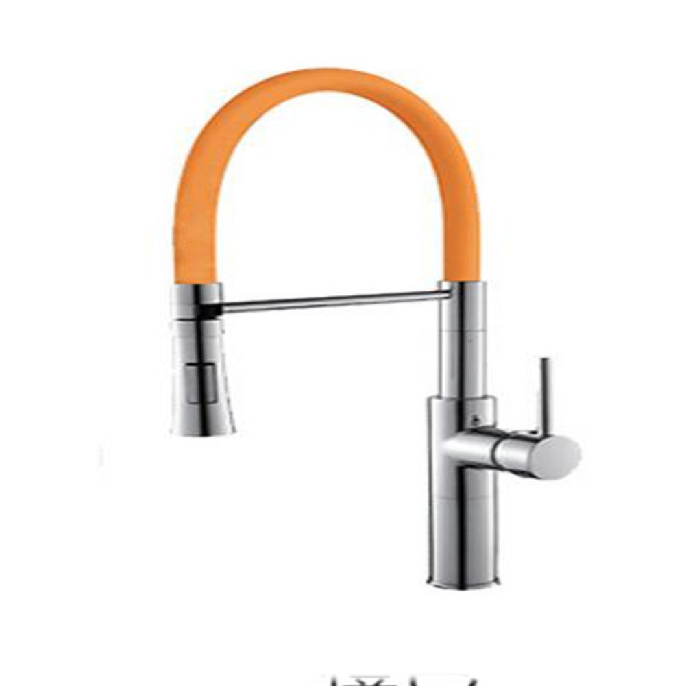 Yellow CHANG TAP Pull Down Multicolor Kitchen Mixer Healthy Kitchen Faucet Lead Free Sink Tap Kitchen Mixer Tap