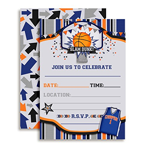 Basketball Sports Birthday Party Invitations, 20 5