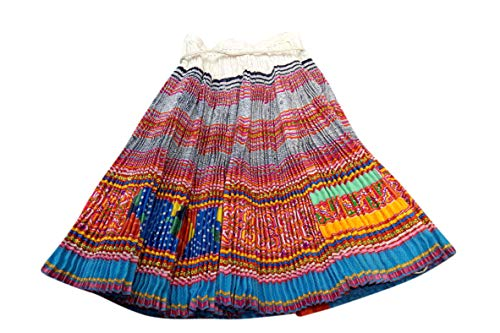 Interact China 100% Hand Woven Embroidered Plaid Pleated Skirt One Of A Kind Boho Women Vintage Dress #133