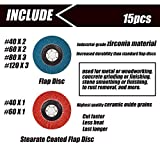 15pcs Multifunction Flap Discs & Grinding Polishing