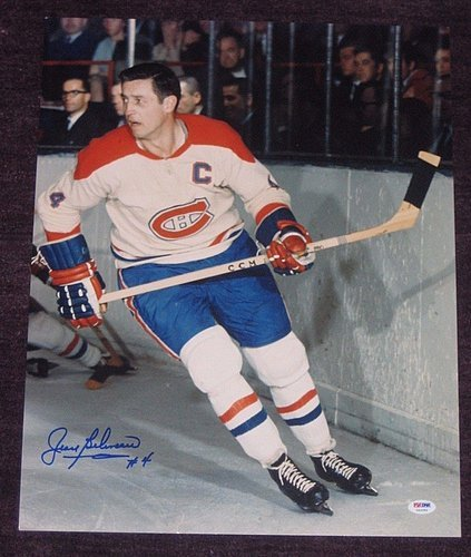 Jean Beliveau Signed Montreal Canadiens 16x20 Photo PSA/DNA Authenticated