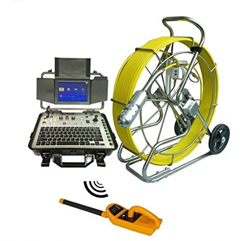 120 M水パイプシステムCCTV下水管検査防水ip68カメラwith 512 Hz Sondeと受信機   B06XP5HDS1
