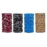 Veronz™ 4 Pc. Bandana Style Multifunctional Headwear Headband Scarf Wrap