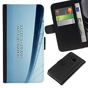 KingStore / Leather Etui en cuir / HTC One M7 / Puente de los Sue?os de Libertad Blue Mist