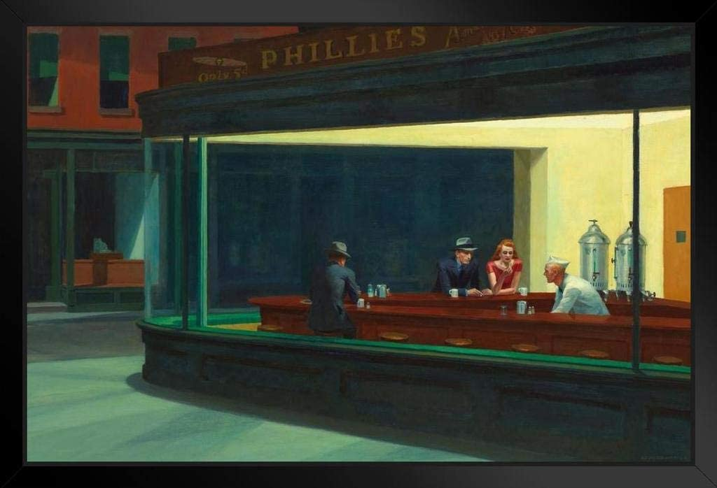 Edward Hopper Nighthawks 24x36 Wall Poster