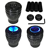 08 impala console - Carbon Fiber Manual Transmission Speed 5 6 BLUE LED Light Gear Stick Shift Knob JDM Style Auto Car Shifter Console Lever
