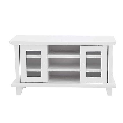 Groovy Amazon Com 1 12 Dollhouse Furniture Set Wooden Tv Cabinet Creativecarmelina Interior Chair Design Creativecarmelinacom