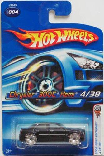 Hot Wheels Mattel 2006 1:64 Scale Black Chrysler 300C Hemi 4/38 Die Cast Car #004