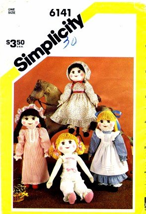 Simplicity 6141 Crafts Sewing Pattern Stuffed Doll & Wardrobe ()