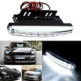 Ecosin® Fashion 8LED Daytime Driving Running Light DRL Car Fog Lamp Waterproof White DC 12V