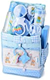 Big Oshi Baby Essentials 16 Piece Newborn Diaper Bag Feeding Gift Set, Blue