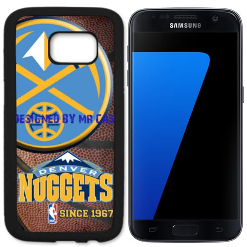Nuggets Denvr Basketball Black Samsung Galaxy S7 Edge Case by Mr Case