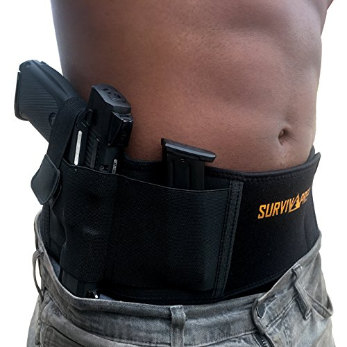 Belly Band Concealed Carry Holster for Women and Men, Gun Holster Fits and Conceals All Subcompact Compact and Full Size Pistols, Elastic Concealed Carry Belt, Neoprene Belly Band Holster, IWB Holster (Guns Carry Concealed)