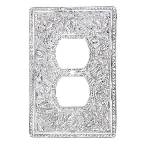 憧れ Vicenza B00D8UN1LO Designs by WPJ7001 San Michele Wall Plate Designs with Jumbo Outlet Opening, Polished Silver by Vicenza Designs B00D8UN1LO, メディアショップ ハイジ:0635ccab --- svecha37.ru