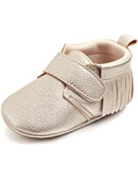 Infant Moccasins - Unisex Baby Boys Girls Soft Sole Tassels Toddler First Walker Shoes