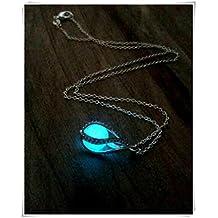 Glow in the Dark Dragon Egg, Mermaid Tear, Glowing Necklace, Glow in the Dark Tear Drop Necklace