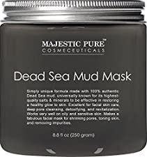 Majestic Pure Natural Dead Sea Mud Mask Facial Cleanser, 8.8 fl oz